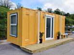 The empty shipping container (pictured) was transformed into a luxurious and modern living space for homeless people in Bristol