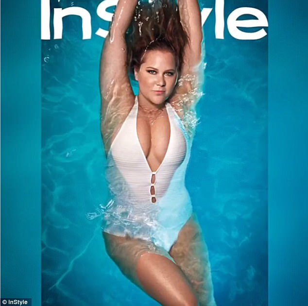 No knife please: Amy Schumer is only 35-years-old. But the Trainwreck star is already talking about whether she needs a nip or tuck to InStyle