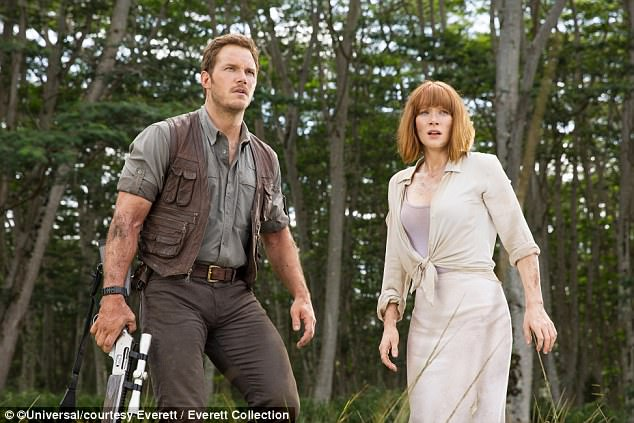 On a role:Pratt has three sequels coming out: one for Guardians Of The Galaxy, one for Avengers and another for Jurassic World (pictured in the 2015 version)