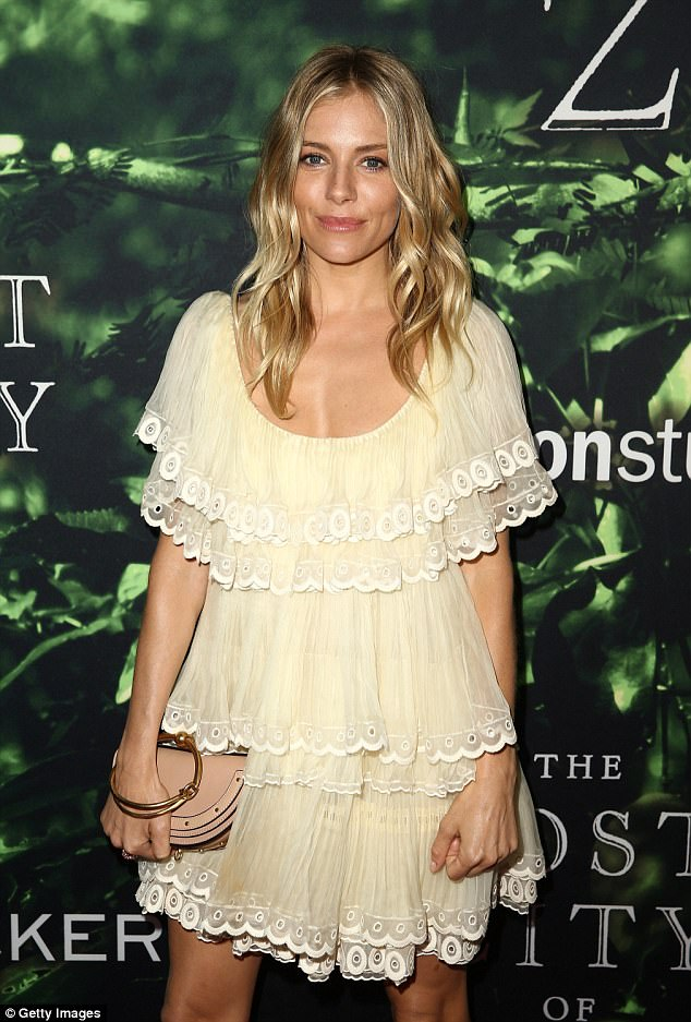 Star of the show:The blonde beauty was pictured at the Los Angeles Premiere of her upcoming film The Lost City of Z