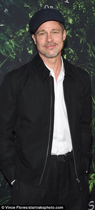 Out of hiding:Brad Pitt made a handsome and rare appearance on the red carpet
