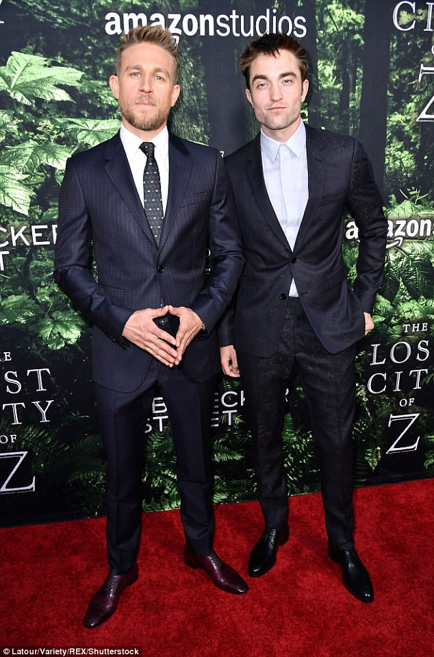 Dapper duo: The boys brought their A game for the LA premiere