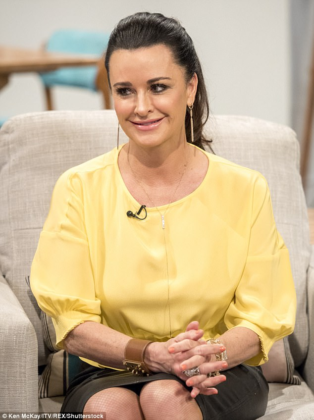 Best of the bunch: Kyle Richards is adamant that the Beverly Hills installment is the best in the Real Housewives franchise, stopping by ITV show Lorraine on Thursday morning to discuss the long-running show
