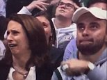 This is the hilarious moment a mother and son reacted with disgust when asked to kiss for the cameras at basketball game