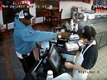The sandwich shop located on 3900 Broadway in Kansas City, Missouri, was held up around 9pm on Wednesday by a man wearing a light blue sweatshirt