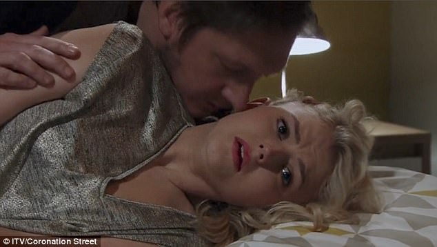Horrid: A panicked Bethany froze while Neil began to kiss her