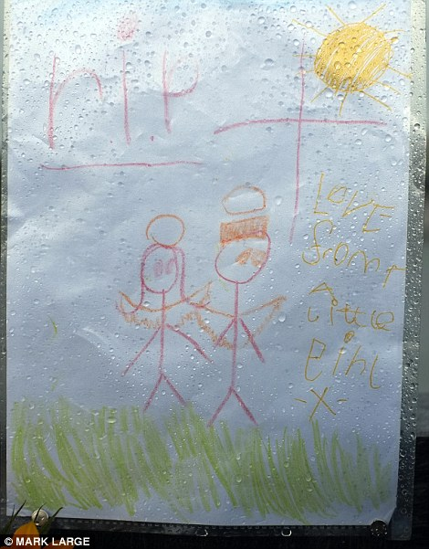 one child drew this moving tribute to those who lost their lives