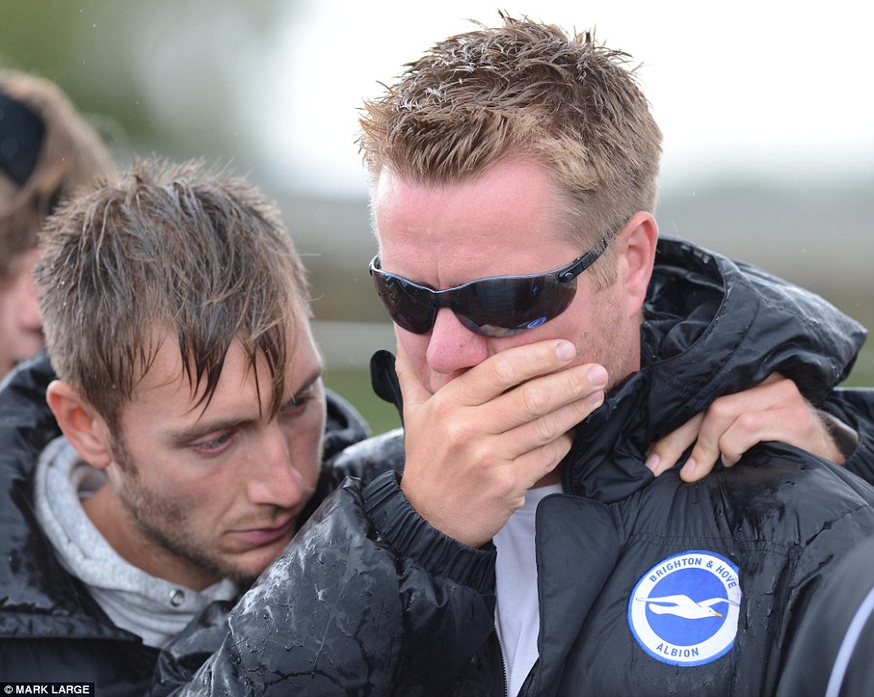 Heartbroken: The two footballers, who now played for Worthing United, had close links to Brighton and Hove Albion, whose staff have been left heartbroken by their deaths