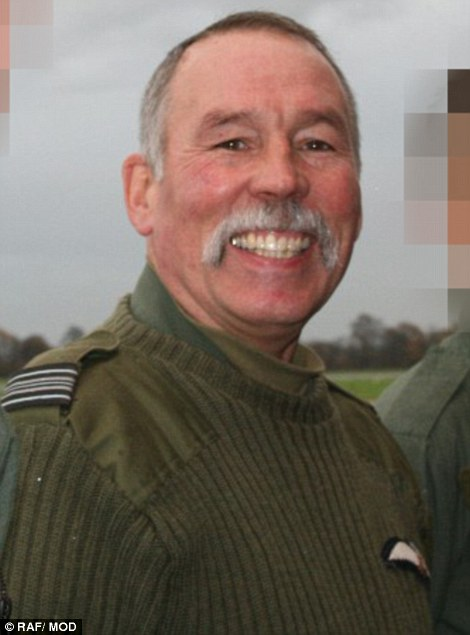 Retired RAF Squadron Leader Chris Heames was to fly the jet on Saturday but Mr Hill stepped in around two months ago