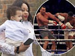 British boxing champ Anthony Joshua's Mother, Yeta Odusanya leaves home with his baby son Joseph, the day after Anthony beat Wladimir Klitschko in the 11th round to win the WBA (Super) and IBO heavyweight titles.