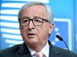 Jean-Claude Juncker, pictured, the insufferably pompous, cognac-loving head of the European Commission, spoke gravely of an 'early crash' in negotiations unless we acquiesced