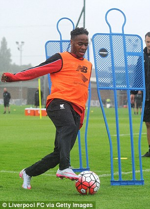Sterling trained with Liverpool on Monday but has called in sick twice since