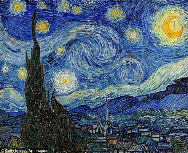 Stealing from the master! The model's dress, designed by Marc Jacobs, brought to mind Vincent van Gogh's Starry Night