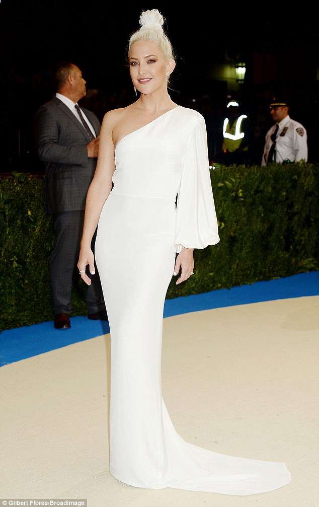 Blinding:Kate Hudson shined at the Met Gala in New York on Monday