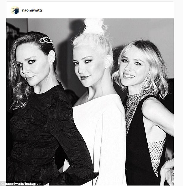 Snap: Naomi posted this snap of the three gorgeous friends and captioned it: 'Girls night out'