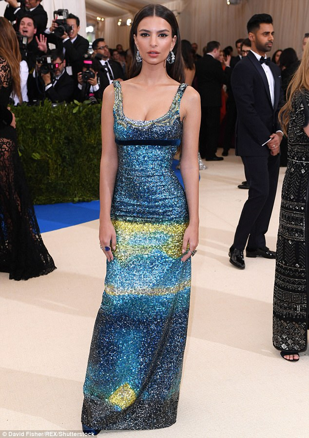 What a beauty! Emily was a breath of fresh air at Monday's Met Gala in New York City, choosing instead to mix glamour with modesty