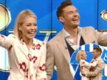 Ryan Seacrest was announced as Kelly Ripa's full-time co-host Monday morning. The show is now called Live with Kelly & Ryan (the two pictured above on Monday)