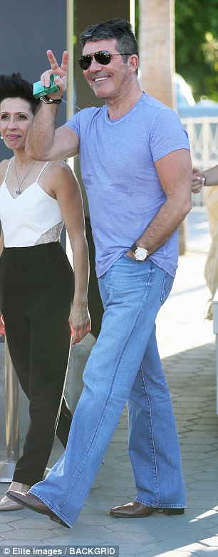 Parent duties: Simon is father to three-year-old Eric with girlfriend Lauren, while Terri has one-year-old daughter Coco with model boyfriend Clark Mallon