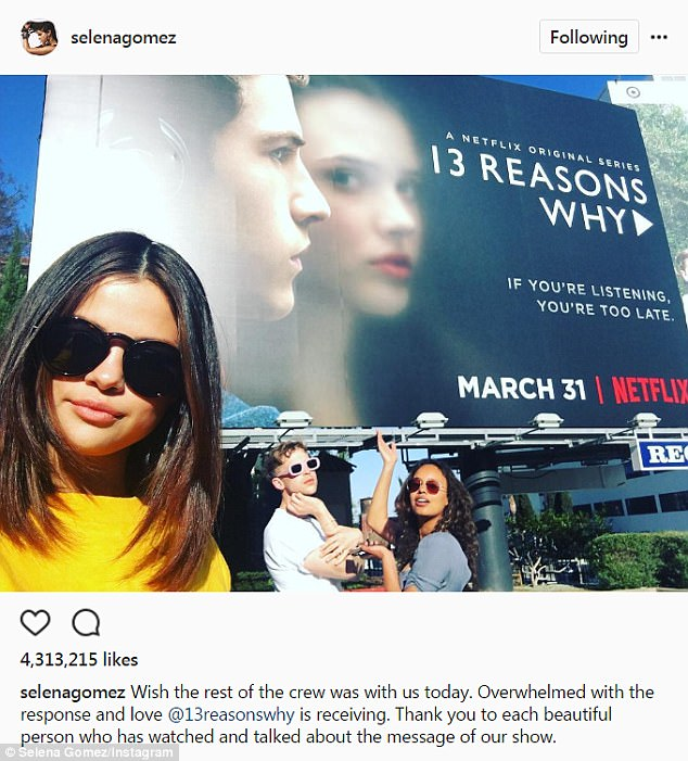 A hit: Gomez is a producer on the Netflix show 13 Reasons Why