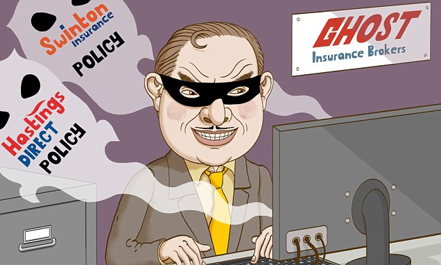 How did crooks set up car insurance policies in my name?