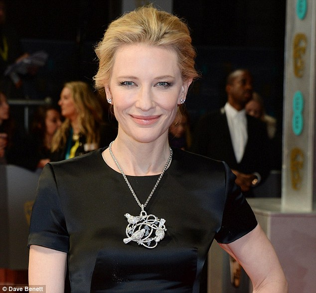 Favourite brand: Cate also dazzled in this Chopard necklace at the BAFTAs in London earlier in the month