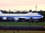 There are four E-4B 'Nightwatch' planes, one is pictured in 2013, in a fleet that are made up of specially modified Boeing 747s that follow the President of the United States almost wherever he goes