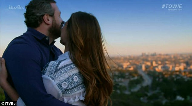 Big plans: Seduced by the beauty of the Hollywood Hills, Sam decided during the episode that a move to LA was imminent for her and Paul
