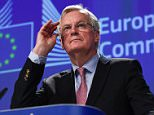 Michel Barnier, the EU's chief Brexit negotiator, warned the fragile bloc could crumble if Britain resists demands for the settlement which, say analysts, has ballooned to around 100billion euros (£85billion)