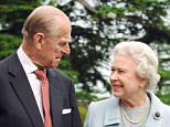Queen Elizabeth II and the Duke of Edinburgh at Broadlands in Romsey, Hampshire, in 2007