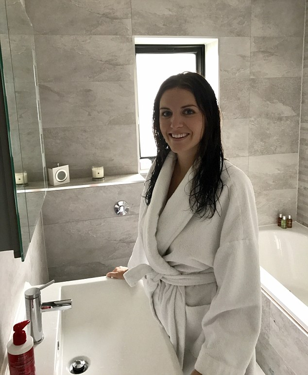 Smooth: Leaving her hair to dry naturally after showering, Andrea was impressed with the condition of her hair, which typically is frizzy and fluffy without styling it with products