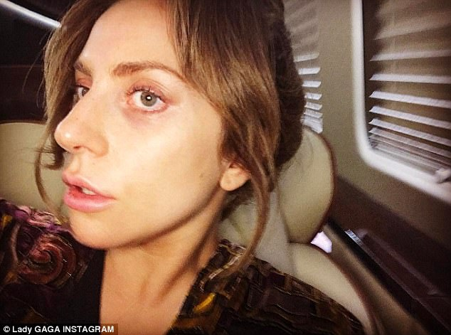 'And that's a wrap for today': On Friday, Lady Gaga, 31, let her natural beauty shine through in a minimal make-up selfie