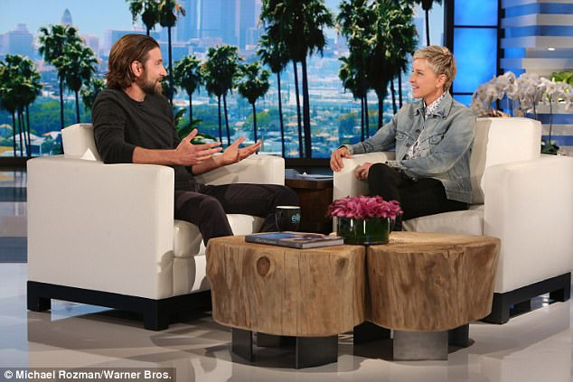 'She's incredible': In an interview on Ellen, Bradley star revealed his newfound respect for vocalist, and also praised his equally-famous co-star