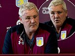 Aston Villa manager Steve Bruce was forced to explain what had happened to his face