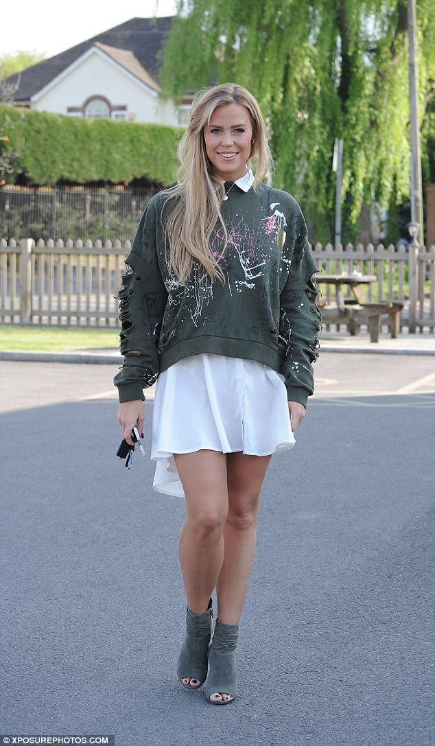 Out and about:Chloe Meadows headed to TOWIE filming on Thursday, in her first appearance since attending the Dalston nightclub in which an acid attack occured at the weekend