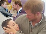 Earlier this week, Prince Harry surprised terminally-ill Ollie Carroll (left) when he visited him at the Great Ormond Street Hospital in London