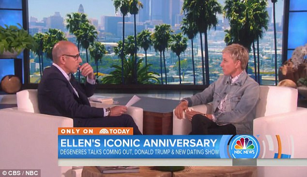 Lost in the mail: Ellen DeGeneres said Donald Trump is not invited on her show as she sat down with Today's Matt Lauer on Friday