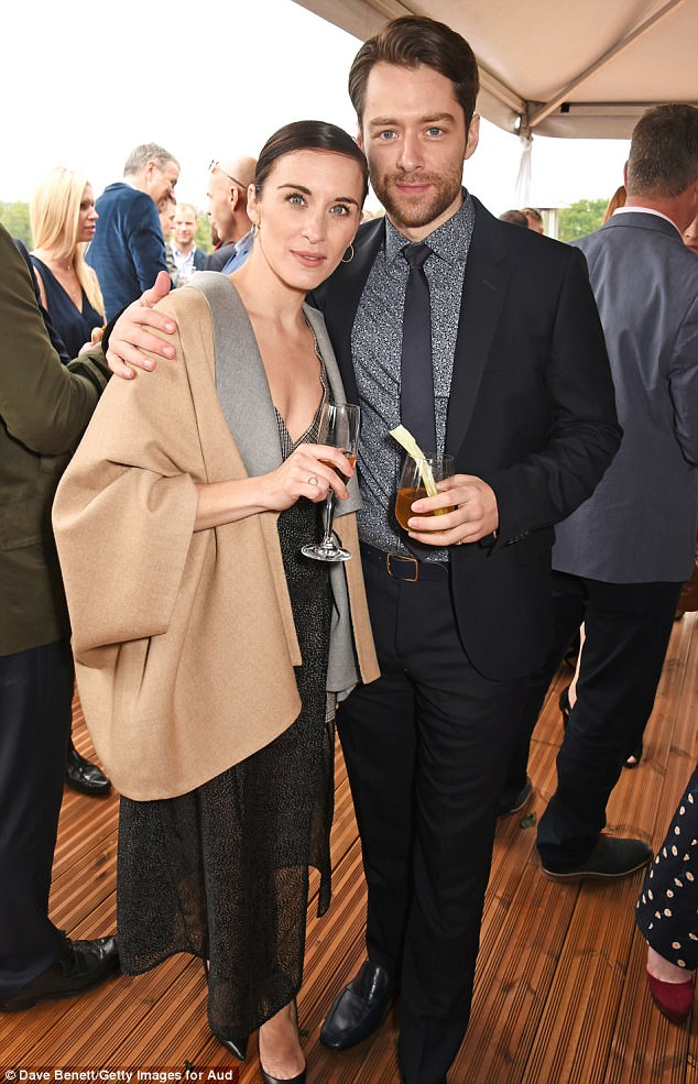 Replacement Reunion! Vicky McClure wore a plunging one-shoulder dress as she joins former co-star Richard Rankin at the Polo in Ascot on Saturday