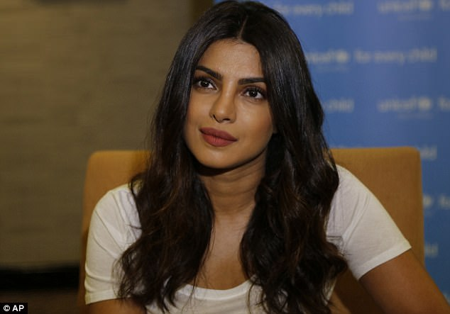 Ambassador: Priyanka Chopra has been meeting youngsters in Zimbabwe as part of her role as UNICEF goodwill ambassador