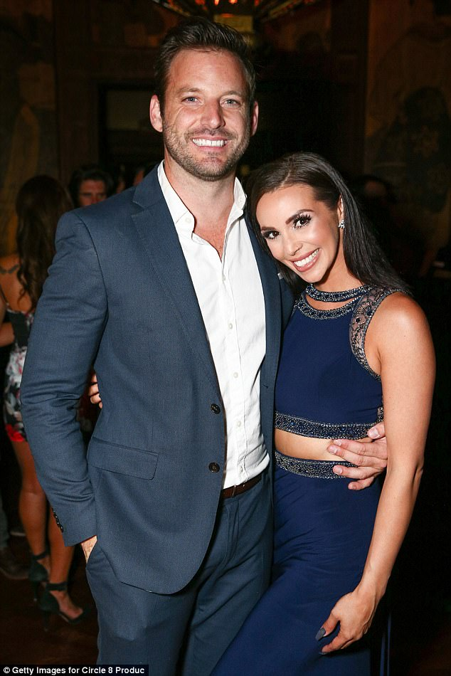 Partners: The Vanderpump Rules star stood by Valletta's side and posed for pictures at Yamishiro's restaurant in Hollywood