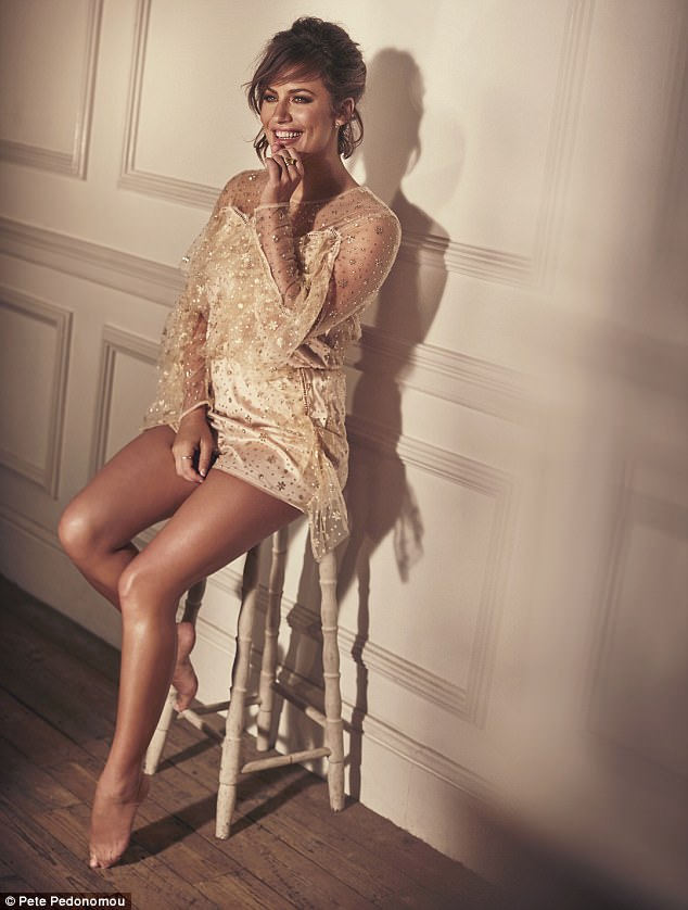 Caroline wears playsuit, Alice McCall, from Oxygen Boutique. Ring, Lily Gabriella