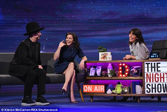 Celebrity guests: Davina laughed with her guests Boy George and actress Vicky McClure