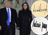 In a thank-you note written to Pamela Anderson, Melania Trump brandished her signature