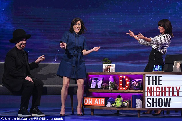 Let's get a little wild: She was unafraid of a little mayhem to reign as Vicky showed off her dance moves to viewers at home