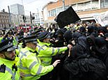 The 40-odd protesters were from the far-right South East Alliance, who protested outside Croydon's Lunar House