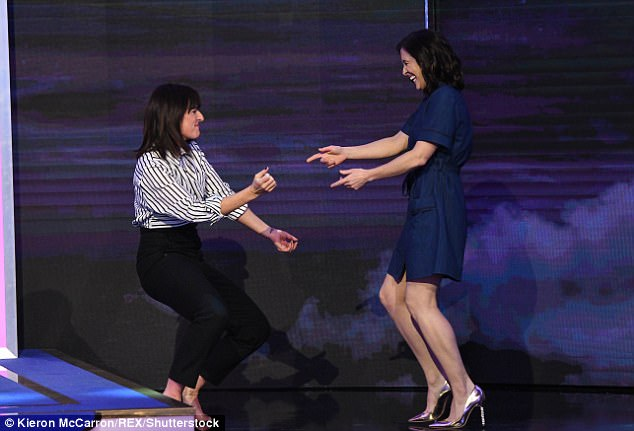 Still got the moves: Viewers were delighted by Davina's foul-mouthed appearance and jokes about her married sex life, or lack thereof