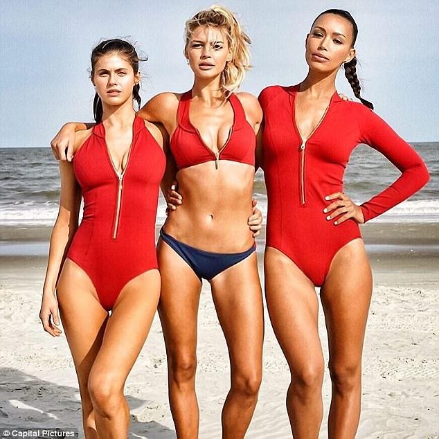 New recruits:The upcoming movie stars brunette beauty Alexandra Daddario, 31, blonde bombshell Kelly Rohrbach, 27, and the leggy Ilfenesh Hadera
