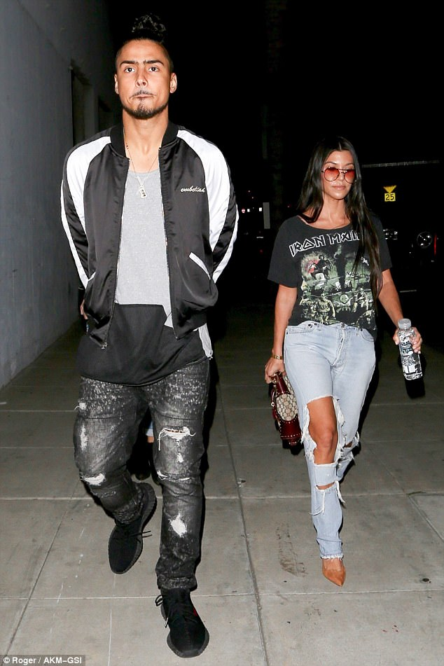 Side by side: The pair were pictured exiting the restaurant together after catching up over a meal at the LA eatery