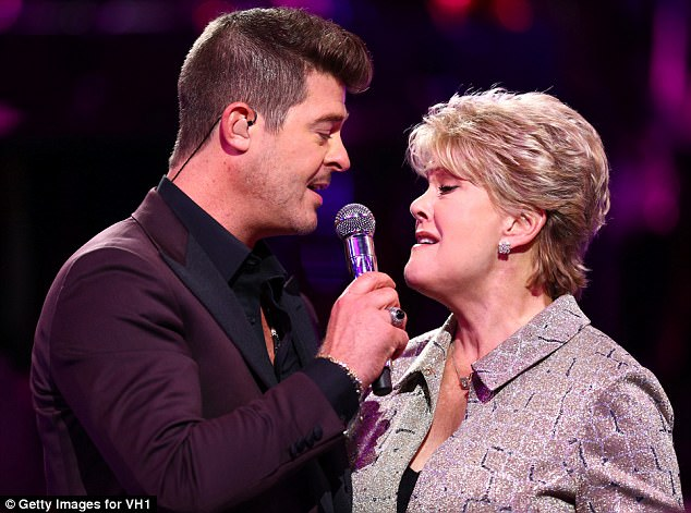 Better together: Later, Gloria joined her son on-stage for a duet