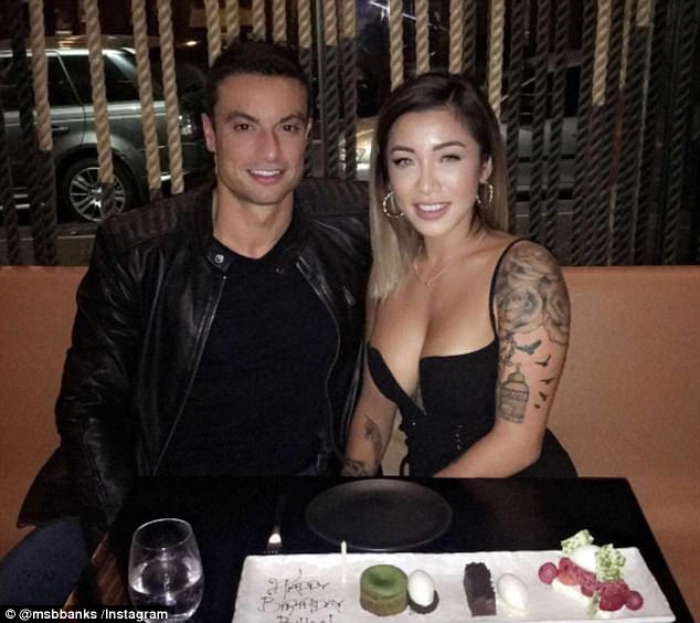 Date night!Betty Banks flashed VERY generous cleavage, cuddling up to her beau Billy as the pair prematurely celebrated his birthday on a cute date night at Sokyo, Sydney on Sunday