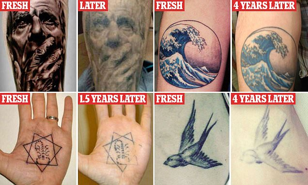 BoredPanda users show tattoos faded in SHOCKING photos